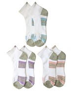 Fila Women's 3-Pack Quarter Socks - Shoe Sizes 4-10 White and Grey with ... - $9.95