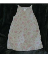 Vintage 2002 Janie and Jack Shabby Pink Cottage Roses White Green Dress ... - $49.49