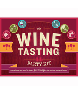 Wine Tasting Party Kit 2012 book notepads wine glass markers bottle cove... - $19.77