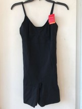 New Spanx Mid Thigh Bodysuit Black SZ L $98 - $72.74
