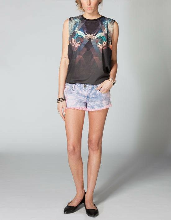 Freestyle Deedee Tiedye Cutoff Denim Shorts Size 9 Brand New