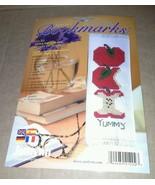 NIP Janlynn Apple Bookmark Counted Cross Stitch Kit USA 21 202 Multi Lin... - $14.99