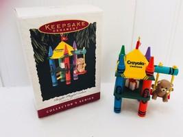 Hallmark Keepsake Ornament 1994 Crayola Crayon Bright Playful Colors 22442 - $9.64