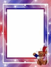 Patriotic Teddy Bear Stationery Printer Paper 26 Sheets - $9.49
