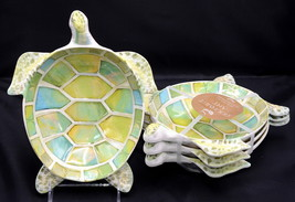 Gourmet Art Cynthia Coulter * 4 TURTLE SHAPED BOWLS / DISHES * Melamine,... - $49.99