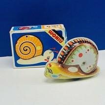 Tin Toy vintage Woniu wind up moving snail slug japan original box mushr... - $28.89