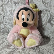 "Disney Store Minnie Mouse Bunny Easter Rabbit Plush Toy Pink Yellow 15"" Mickey - $18.80"