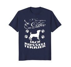 Jack Russell Terrier dog coffee lover drinkers tee shirt - $17.99+