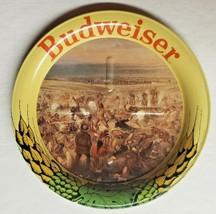 "Vintage Budweiser Beer Anheuser Busch Motif Battle Metal Coasters  3.5"" ... - $9.99"
