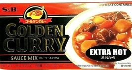 S&B Golden Curry Sauce Mix Extra Hot 7.8 oz ( Pack of 6 ) - $32.71
