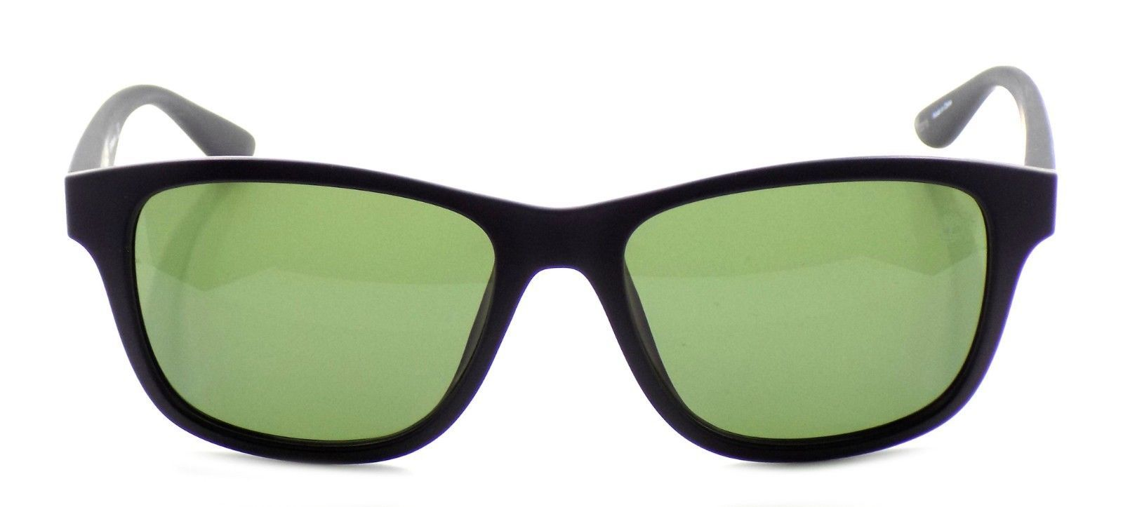 TIMBERLAND TB9089 02R Polarized Sunglasses BLACK 55-17-140 Green Lens + CASE