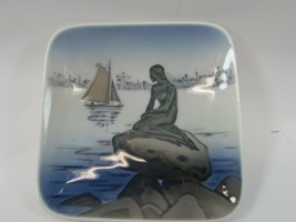"Royal Copenhagen Denmark Porcelain 4228 Langelinie Mermaid Dish 5"" 32476 - $17.81"