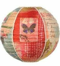 "Hanging Lantern KelleyRaeRoberts16""Round Silk Butterfly Discontinued Col... - $38.60"