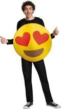 Emoticon Emoji Heart Eyes Costume Yellow Adult Halloween Unique Funny DG... - €42,51 EUR