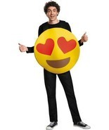 Emoticon Emoji Heart Eyes Costume Yellow Adult Halloween Unique Funny DG... - $936,99 MXN