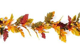CraftMore Fall Oak Leaf with Berries Garland 6' image 2