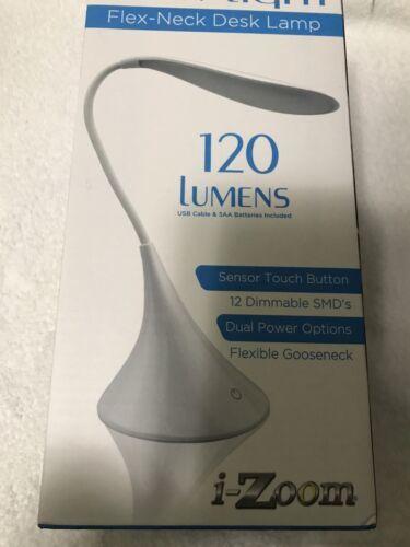 Beautifully Detailed LED Swan Shaped Gooseneck Touch Dimmer Desk Lamp Brand New