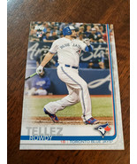2019 TOPPS CLEAR ROWDY TELLEZ BLUE JAYS PROMO PARALLEL ROOKIE CARD CP-10... - $9.99