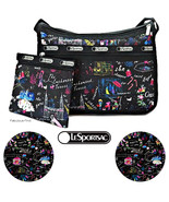 LeSportsac Wonderland Deluxe Everyday Crossbody + Cosmetic Bag Free Ship... - $76.36