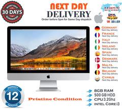 "Apple iMac 27"" 5K Intel Quad Core i3 3.2GHz 8GB RAM 500GB HDD Mid 2010 A... - $570.78"