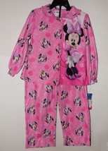 Minnie Mouse Toddler Girl's Pajama Top Button Down & Pants Size 4T NWT - $10.87