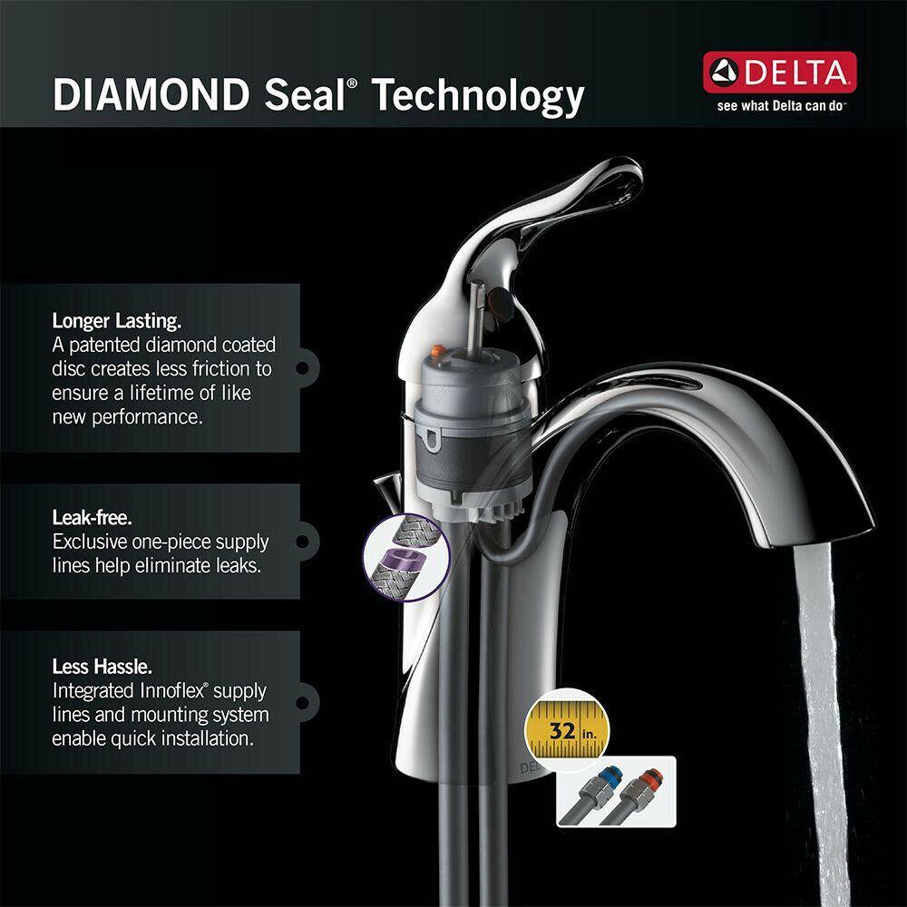 Delta Bathroom Faucet 1 2 Gpm Single Handle Touch Sensor