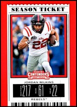 2019 Panini Contenders Draft Tickets Season Ticket #51 Jordan Wilkins NM... - $0.99