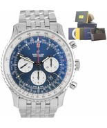 BRAND NEW 2019 Breitling Navitimer 01 Blue Automatic Chronograph 46mm AB... - $5,493.45