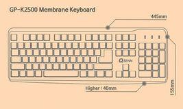 QSENN GP-K2500 USB Wired Korean English Keyboard with Cover Skin Protector image 8