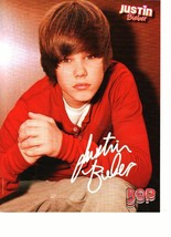 Justin Bieber teen magazine pinup clipping Super young open legs bright shirt
