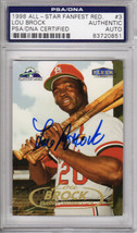 Lou Brock Signed St Louis Cardinals 1998 Fleer Tradition Trading Card #3... - $95.00