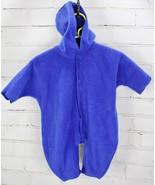 Baby Gap Fleece Snowsuit Romper Hoodie Baby Boys Size 0-3M Blue One Piece - $33.66