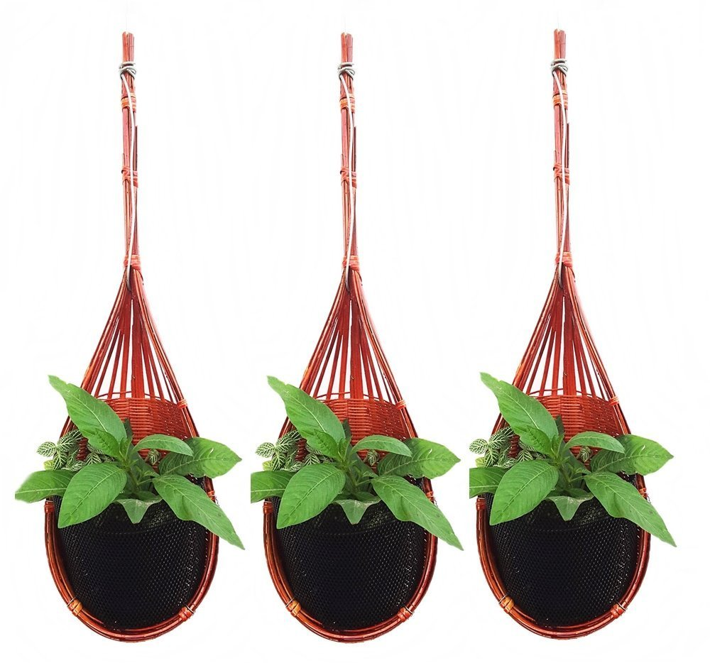 K'Dauz Hanging Planter Basket Flower Plant Pots Decorative Outdoor Indoor Garden