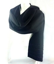 Mises Stole NIGHT & DAY black wool Made in Italy new Swarovsky foulard 1... - $58.80