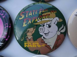 Large Lot of Minnesota State Fair Pinback Buttons Various Years image 6