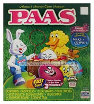 PAAS* 129pc Easter Egg CLASSIC Stickers DECORATING KIT Teal+Denim+Yellow... - $2.99