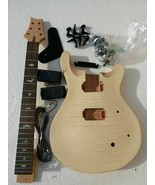 BRAND NEW PROJECT ELECTRIC GUITAR BUILDER KIT DIY WITH ALL BLACK PARTS( P) - $128.69