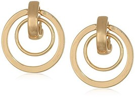 Anne Klein Women's Gold Orbital Clip earrings, Size: 0 - $27.46