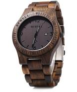 Mens Wooden Watch Analog Quartz Lightweight Handmade Wood Wrist Watch Eb... - $86.62