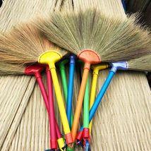 Broom Sweep Natural Handmade Straw Dry Grass Soft Plastic Handle 20X24'' - $19.95