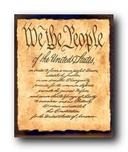 Wall Decor Constitution of The United States US Historical We The People... - $12.75