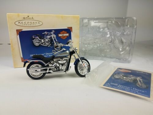 Primary image for Hallmark 2000 Ornament Harley Davidson Softail Deuce Motorcycle Milestones