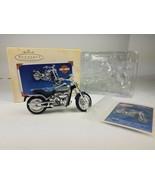 Hallmark 2000 Ornament Harley Davidson Softail Deuce Motorcycle Milestones - $11.83