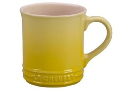 "Le Creuset ""Soleil"" Stoneware 12 Ounce Coffee Mug, Set of 2 Yellow Solid... - $34.80"