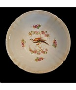 GERMANY Serving Bowl Vintage Porcelain China Black Bird Cherry Blossoms ... - $19.78