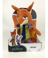 "Disney Zootopia Tomy Nick Wilde Fox w Sounds Talking 11"" Plush Stuffed T... - $21.33"