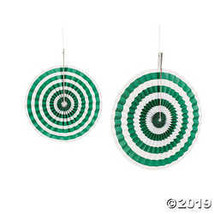Green Stripe Hanging Fans - $11.25
