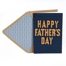 Hallmark Signature Father's Day Card Cork Lettering, Thankful for You - $6.27