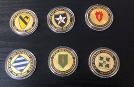 U.S. ARMY Infantry Division 1st 2nd 3rd 4th 25th 1st Cav Challenge Coin LOT of - $57.63