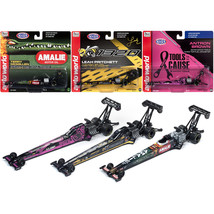 NHRA Top Fuel Dragster 2019 Release 1, Set of 3 Funny Cars 1/64 Diecast ... - $53.47